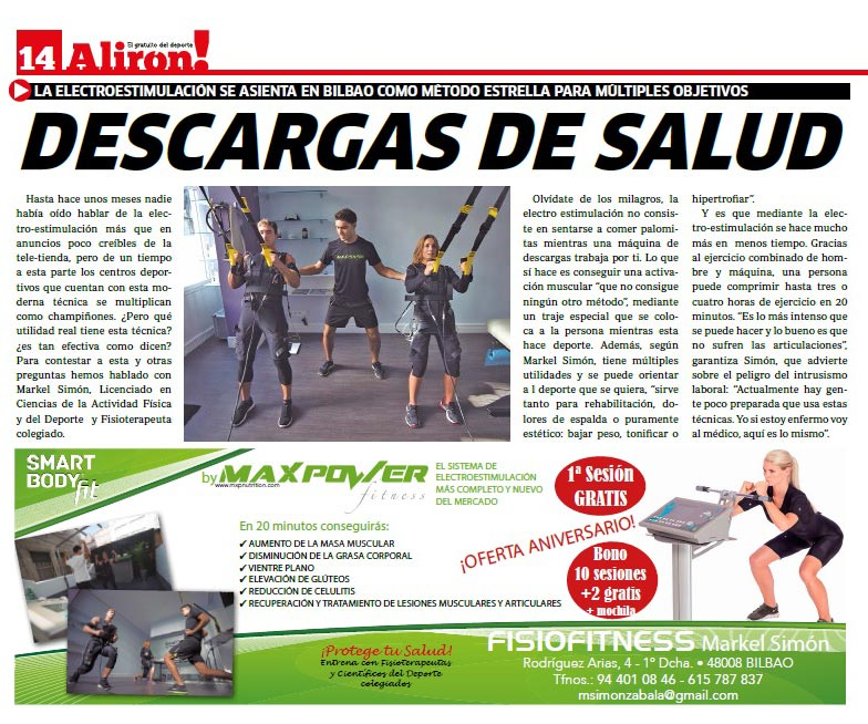 """""""Descargas de salud"""" y """"Enchufados"""", artículos en el periódico Alirón"""